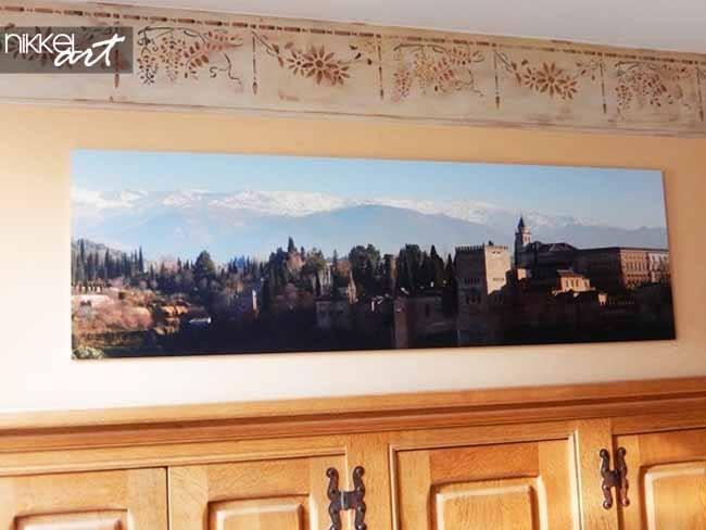 panoramic photo on a acrylic